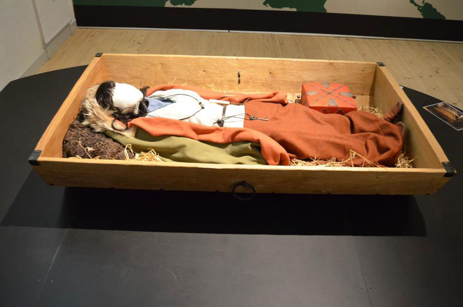 This reconstruction shows how the woman's burial may have looked in Viking times. Photo Credit: Museum Silkeborg/Science Nordic.