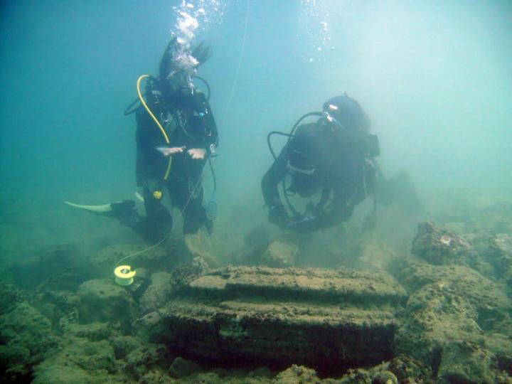 The ancient underwater remains of a long lost Greek city were in fact created by a naturally occurring phenomenon, according to joint research from the University of East Anglia and the University of Athens (Greece). Credit: University of Athens.