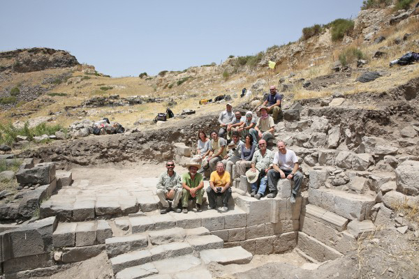 A team of archaeologists exposed the structure of a gate that potentially led to a sanctuary for Pan. Credit: Dr. Michael Eisenberg/University of Haifa