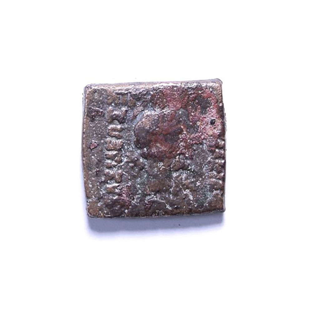 Indo-Greek coin from Bazira, Barikot, Pakistan Courtesy Italian Archaeological Mission in Swat
