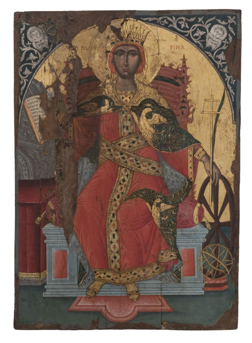Iconof Saint Catherin. Late 17th century. Byzantine and Christian Museum, Athens (ΒΧΜ 11535).