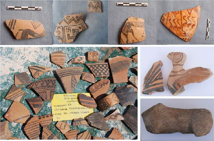 Despotiko: Geometric period pottery and figurines.