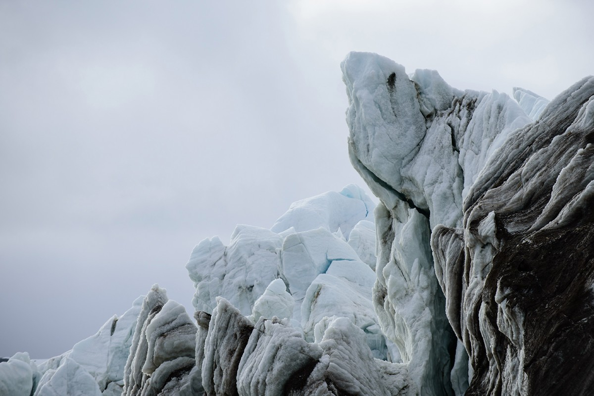 The retreating calving front of the Bloomstandbreen Glacier on Svalbard (Spitsbergen). © Alfred-Wegener-Institut/René Bürgi
