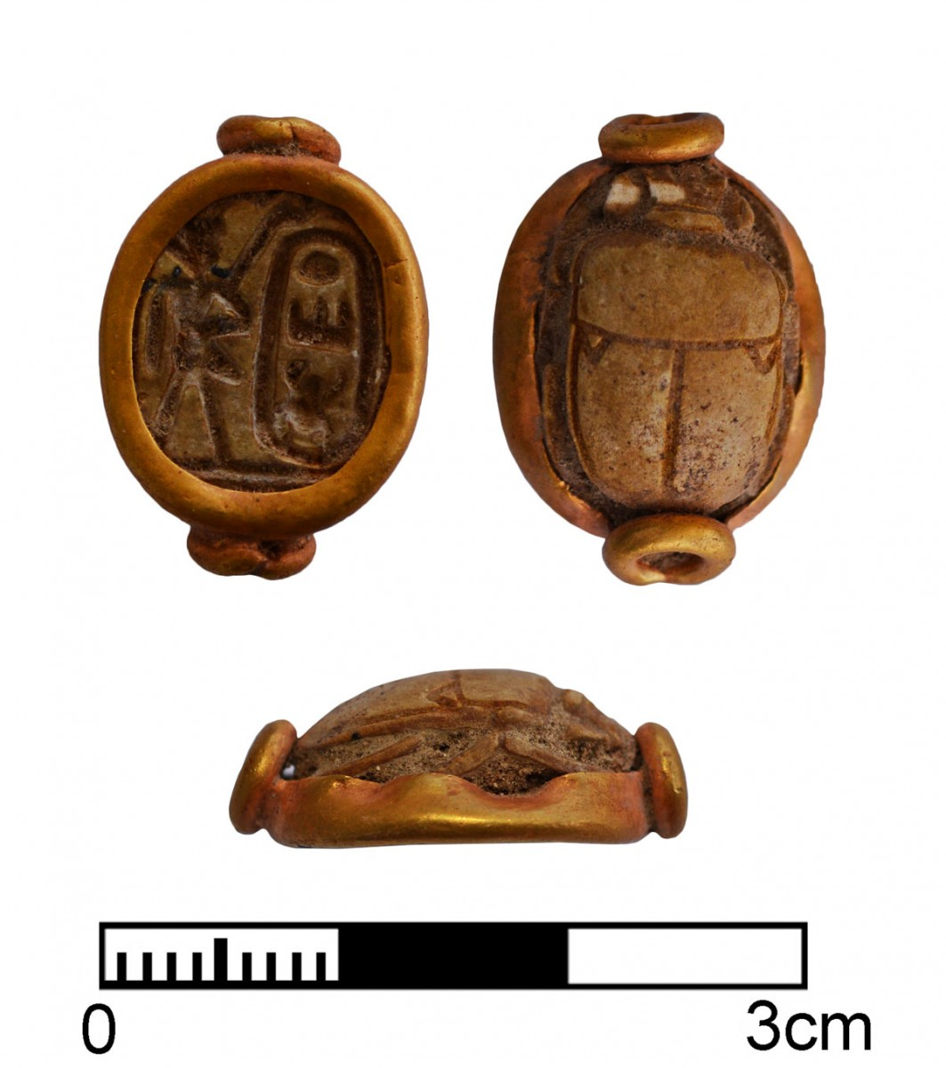 Scarab with the cartouche of Thutmosis III (1479-1425 BC).
