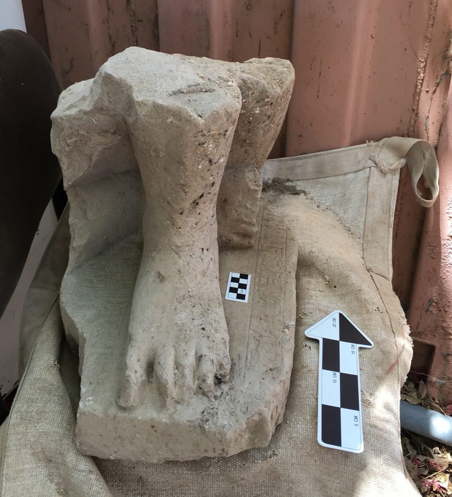 The statue was originally placed either in the official's tomb or in a temple –most probably a temple of the Egyptian god Ptah– and most of the texts inscribed on the statue's base include words of praise to the official who may have served and most probably practiced his duties in the region of Memphis, the primary cult center of the god Ptah.