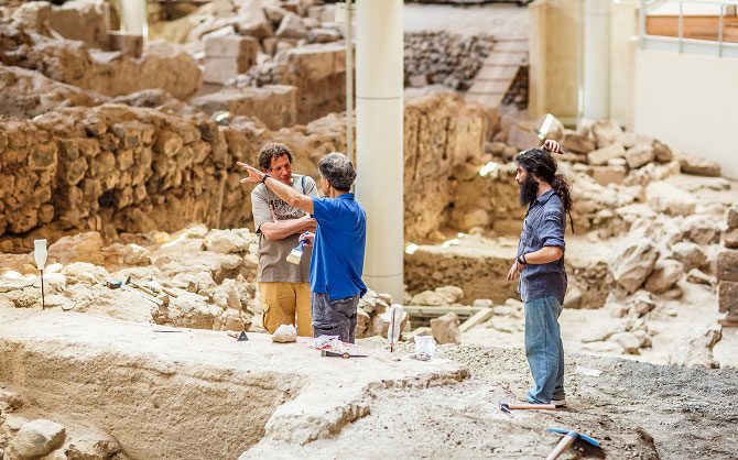 The cooperation between Kaspersky Lab and the ASA started last year, when the former sponsored the renovation of the frescoes at Akrotiri. Photo Credit: Kaspersky Lab.