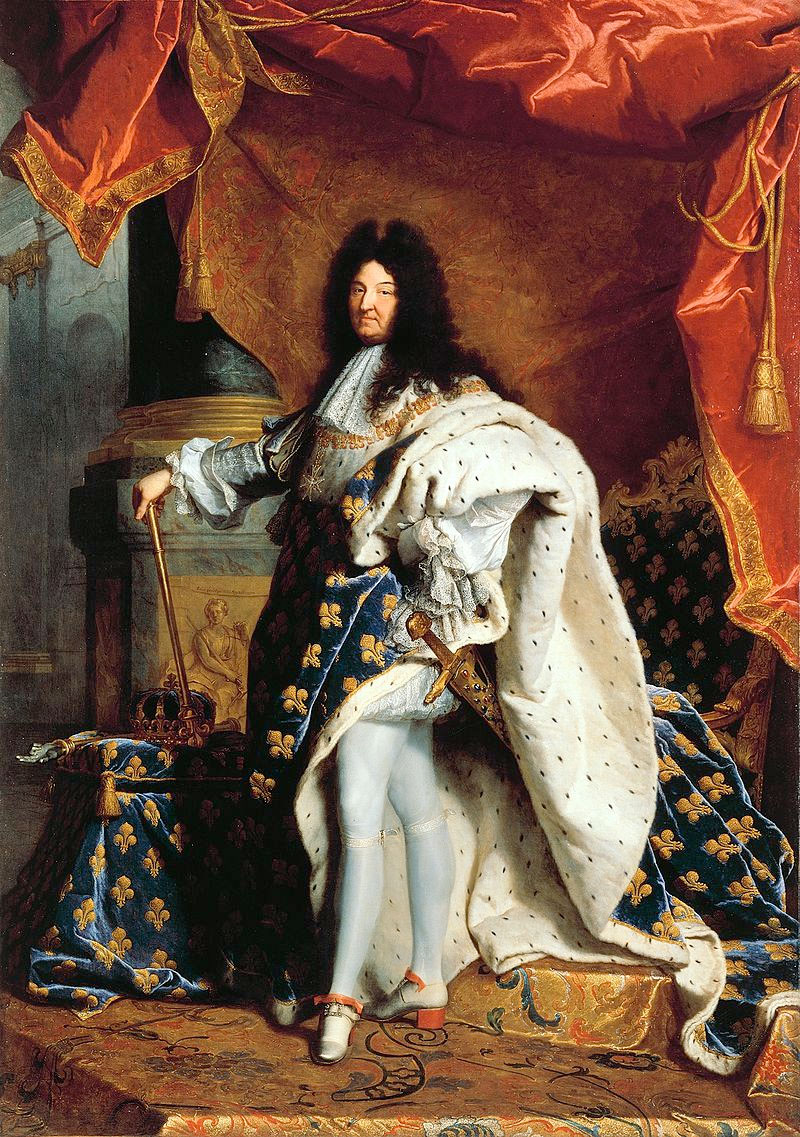 Louis XIV, painting by Hyacinthe Rigaud (1701).
