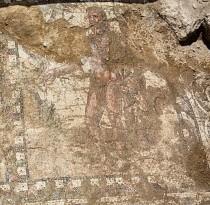 The mosaic pavement in Larnaka