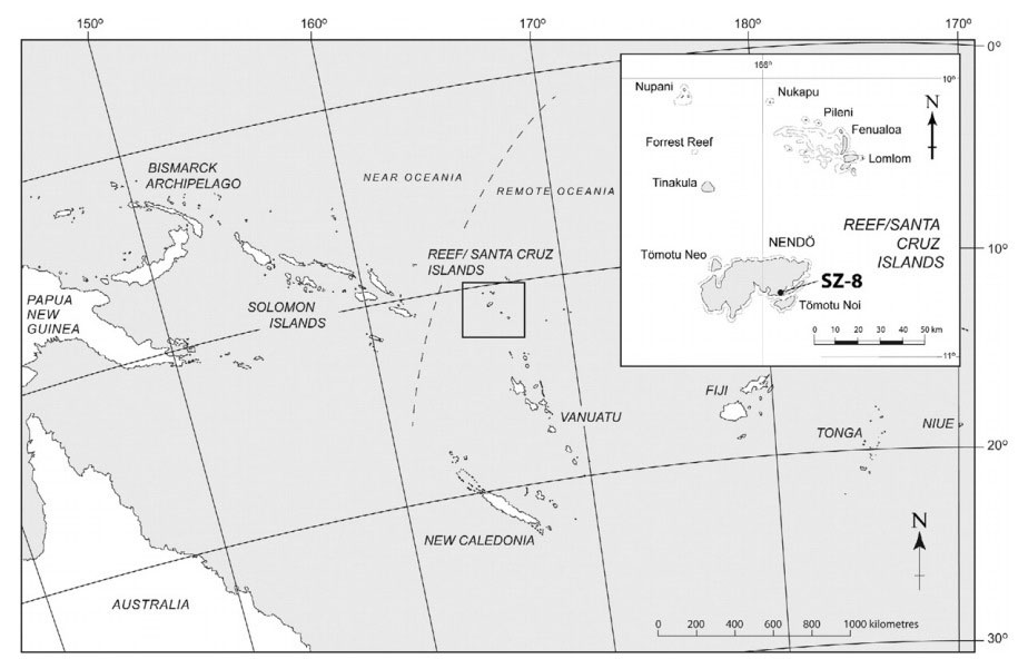 Location of the Nanggu site in the Solomon Islands. Photo Credit: Kononenko et al/Journal of Archaeological Science: Reports/Live Science.