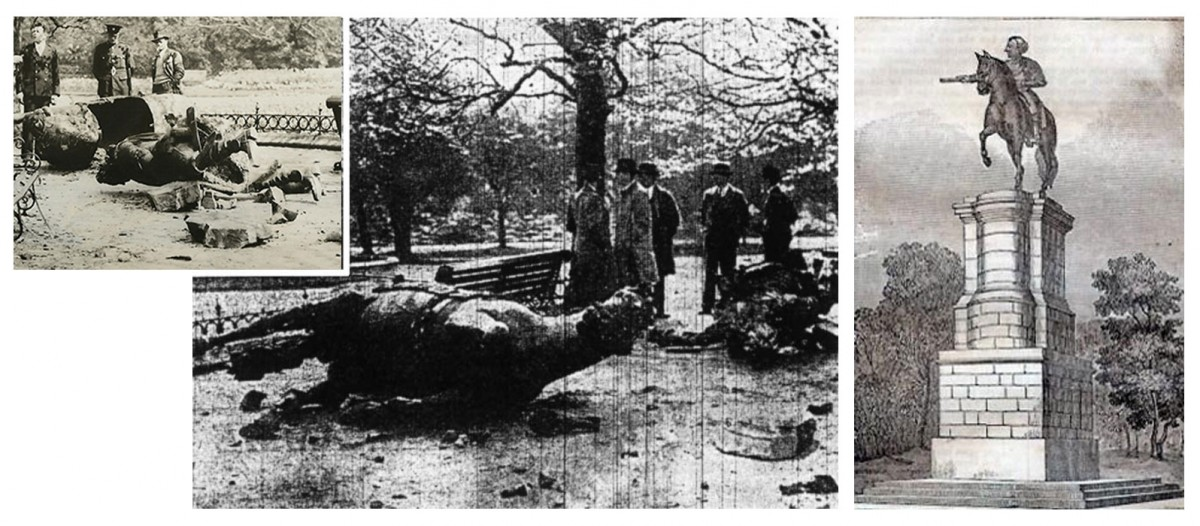 Fig. 5. The monument of King George II (1758) was destroyed after a bomb attack on 13th May 1937. Sculptor: John van Nost the Younger (1713-1780).
