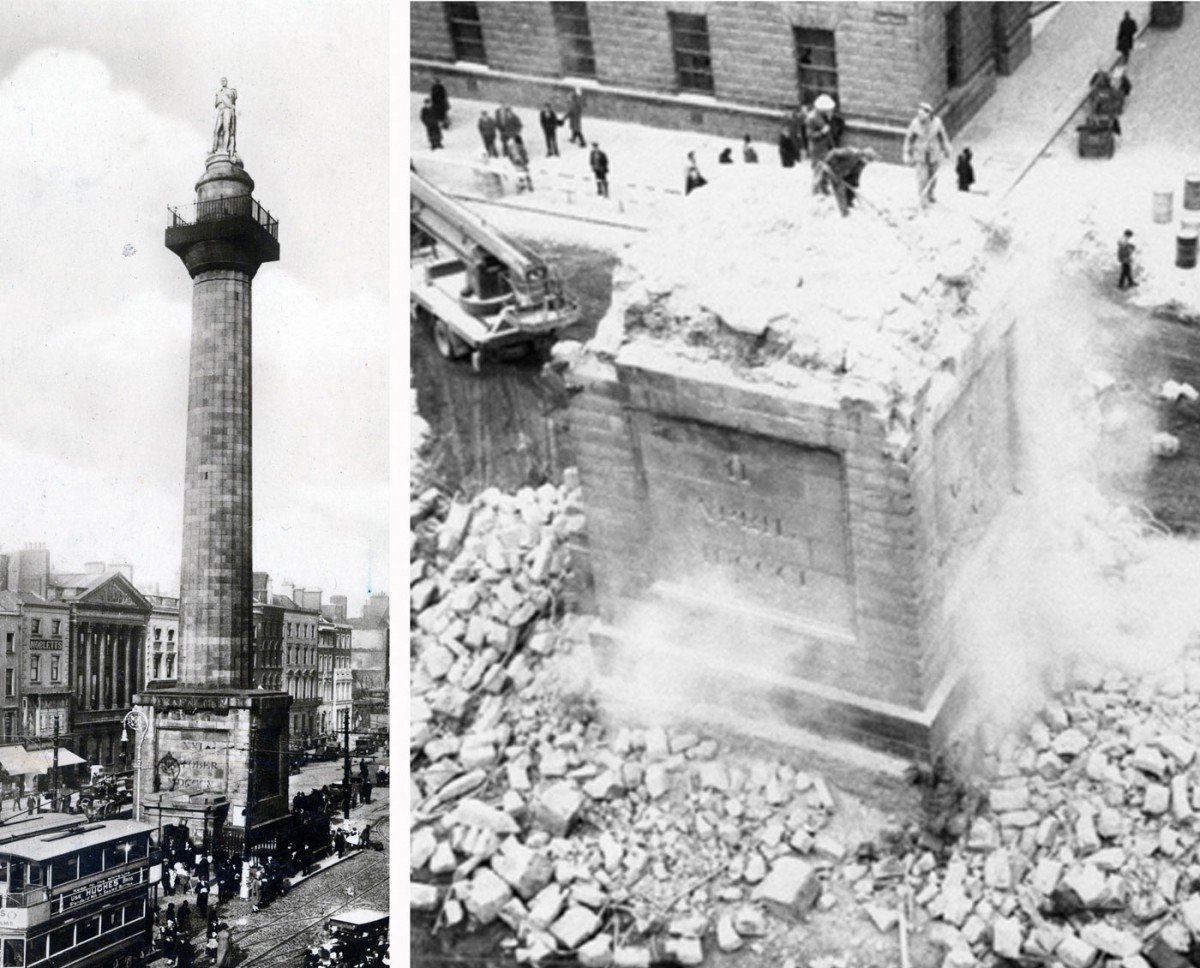 Fig. 6. The Column of Nelson (1809), officer of the British Royal Navy, was destroyed by engineers of the Irish army on March 14th 1966. Architect: William Wilkins (1778-1839) (original commission), Francis Johnston (1760-1829).