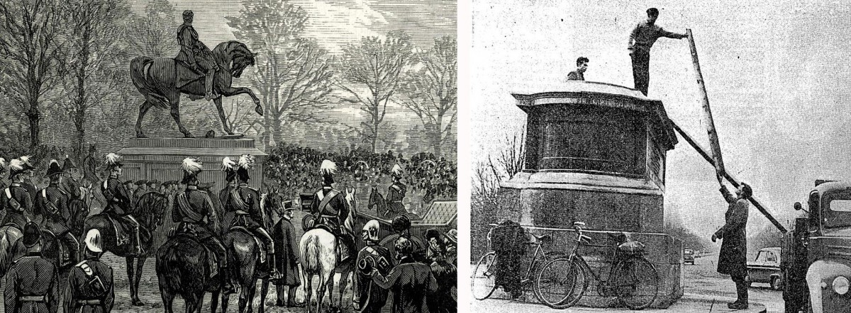 Fig. 7. The monument of Marshal Gough, British officer of Irish origin (1880), was removed in 1957 after it was vandalized. Sculptor: John Henry Foley (1779-1809).