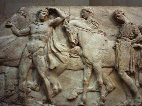 The Elgin Marbles were created 2,500 years ago to decorate the Parthenon temple in Athens. Photo Credit: Getty/The Independent.