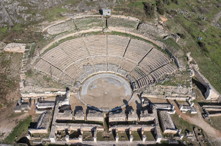 Archaeological Site of Philippi: The Theater © Hellenic Ministry of Culture and Sports
