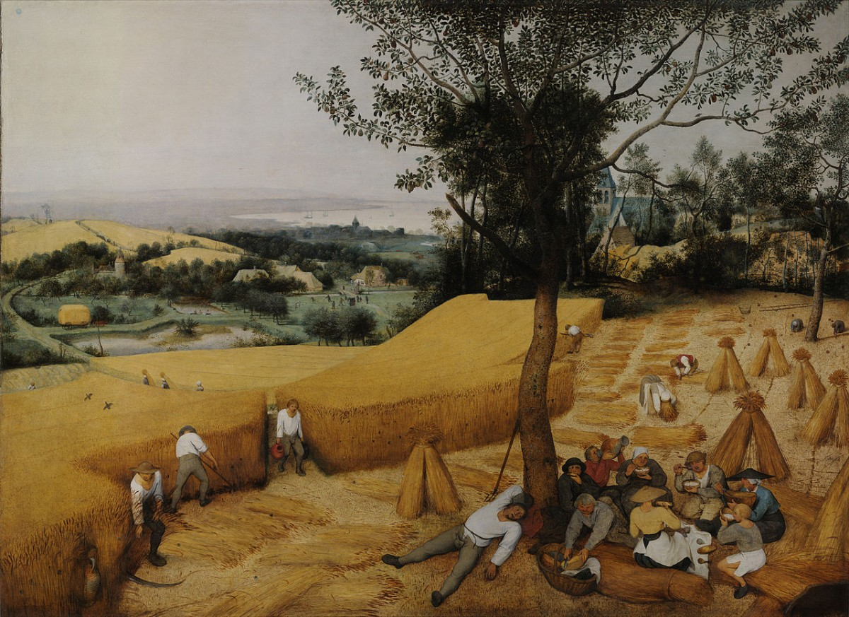 The Harvesters, Pieter Bruegel, 1565.