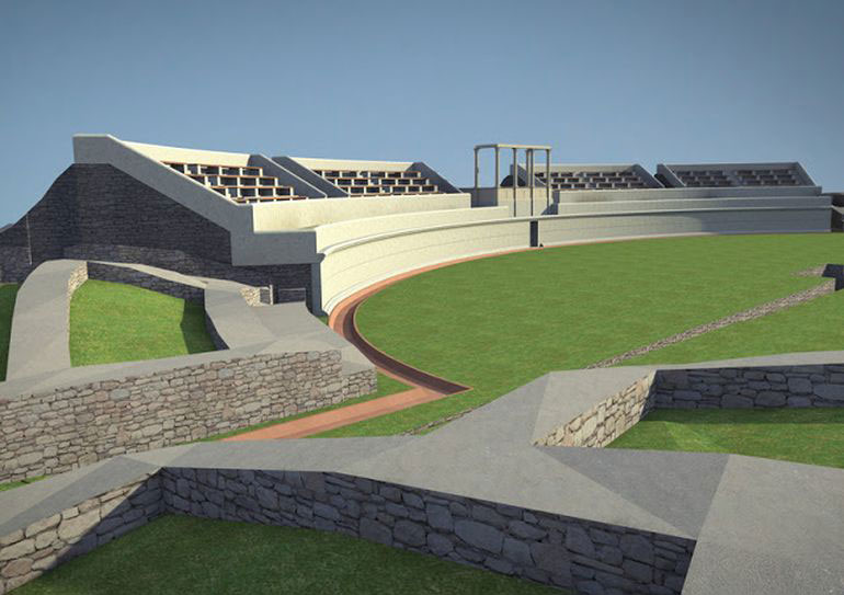Proposed reconstruction of the Amphitheater. Image Credit: Libertatea/Realm of History.