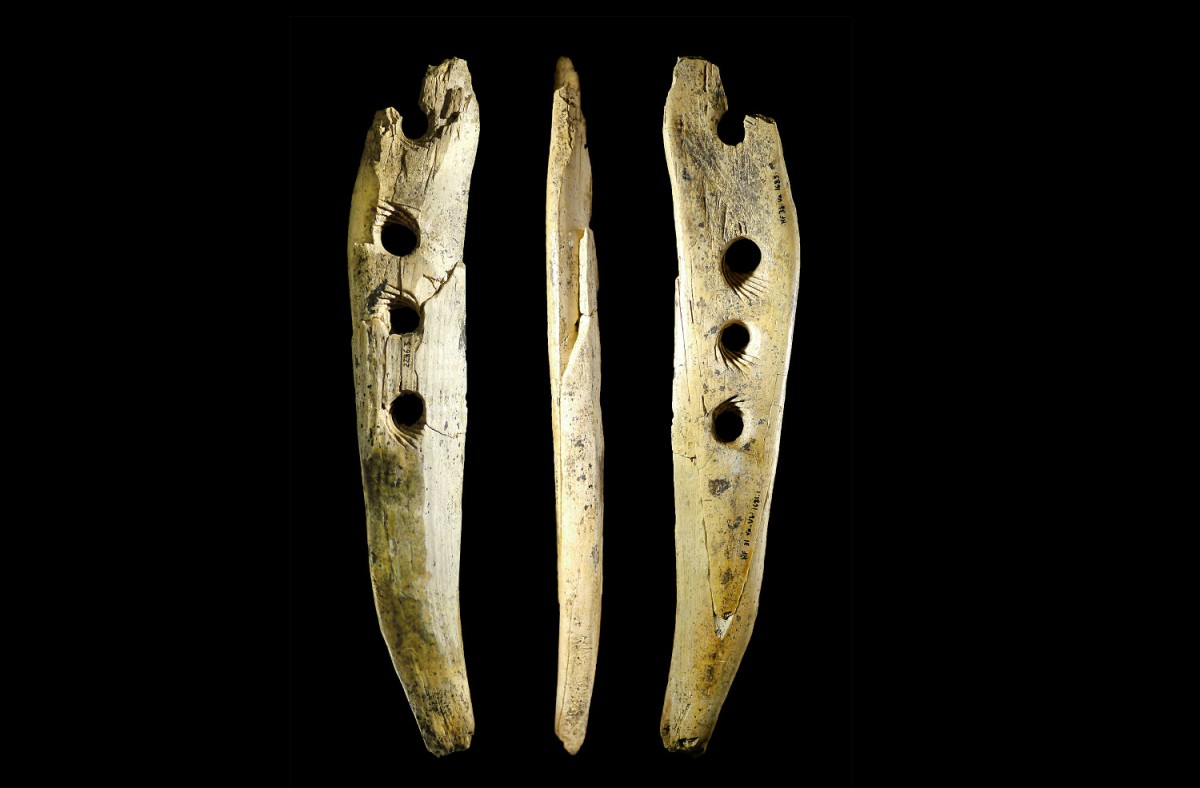 A tool used to make rope was found in Hohle Fels Cave in southwestern Germany.