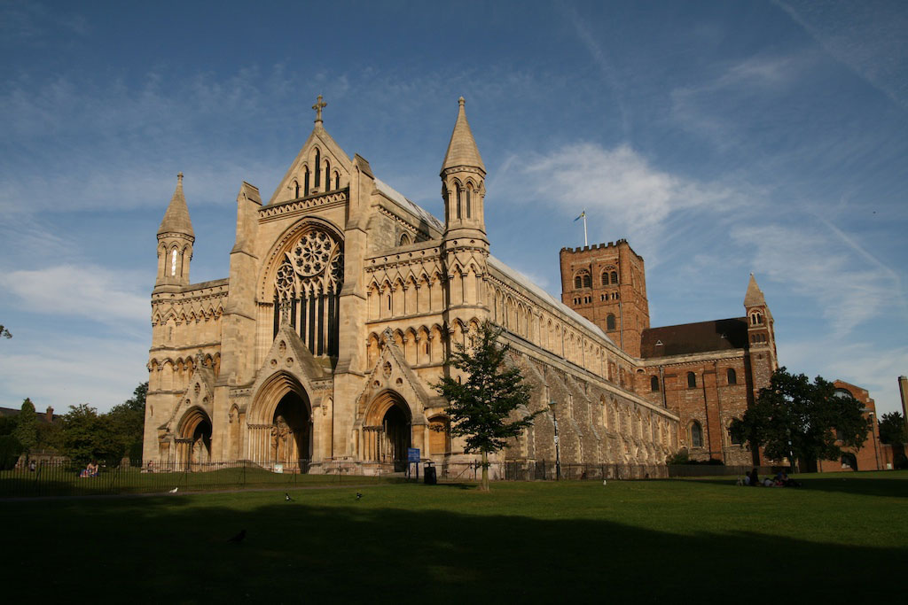 The St Albans Cathedral.