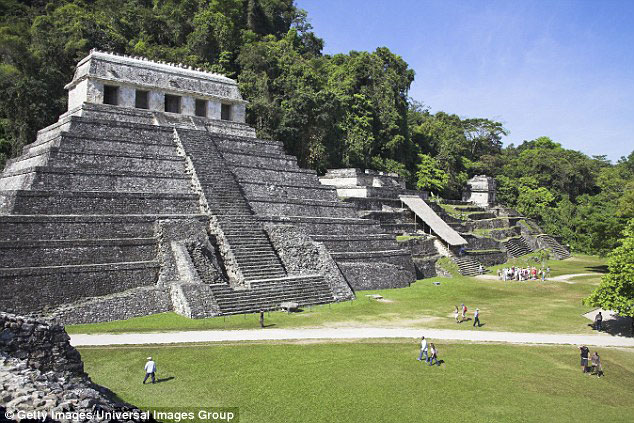 The Temple of Inscriptions was only rediscovered around 200 years ago in the jungle of southern Mexico. Photo Credit: Getty Images/Universal Images Groupo/Daily Mail.