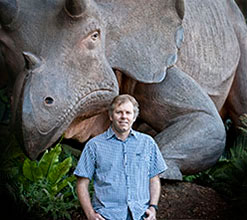 Evolutionary biologist Dr Matthew Phillips used molecular dating from DNA sequences to challenge the dominant scientific theory that placental mammals diversified 20 million years before dinosaurs became extinct. Photo Credit: QUT.