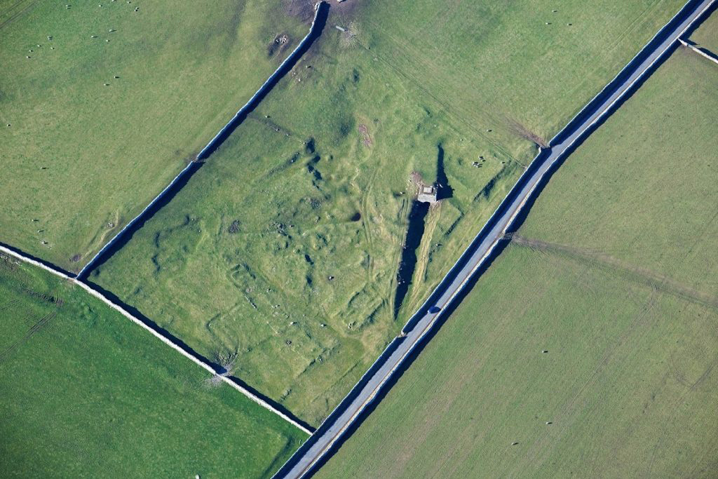This image shows the remains of a lime kiln in Cumbria which would have produced quick lime by burning limestone.