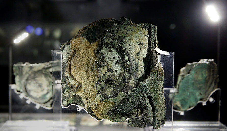 The fragmented remains of the Antikythera mechanism. Photo Credit: Reuters/Alkis Konstantinidis/The Conversation.