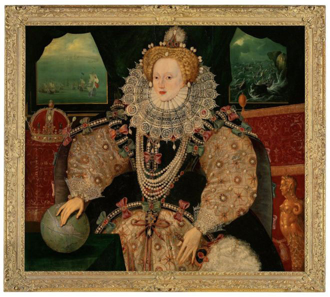The Armada portrait of Queen Elizabeth I circa 1590. Photo CreditMichael Bowles/Getty Images for the Art Fund/The Guardian.