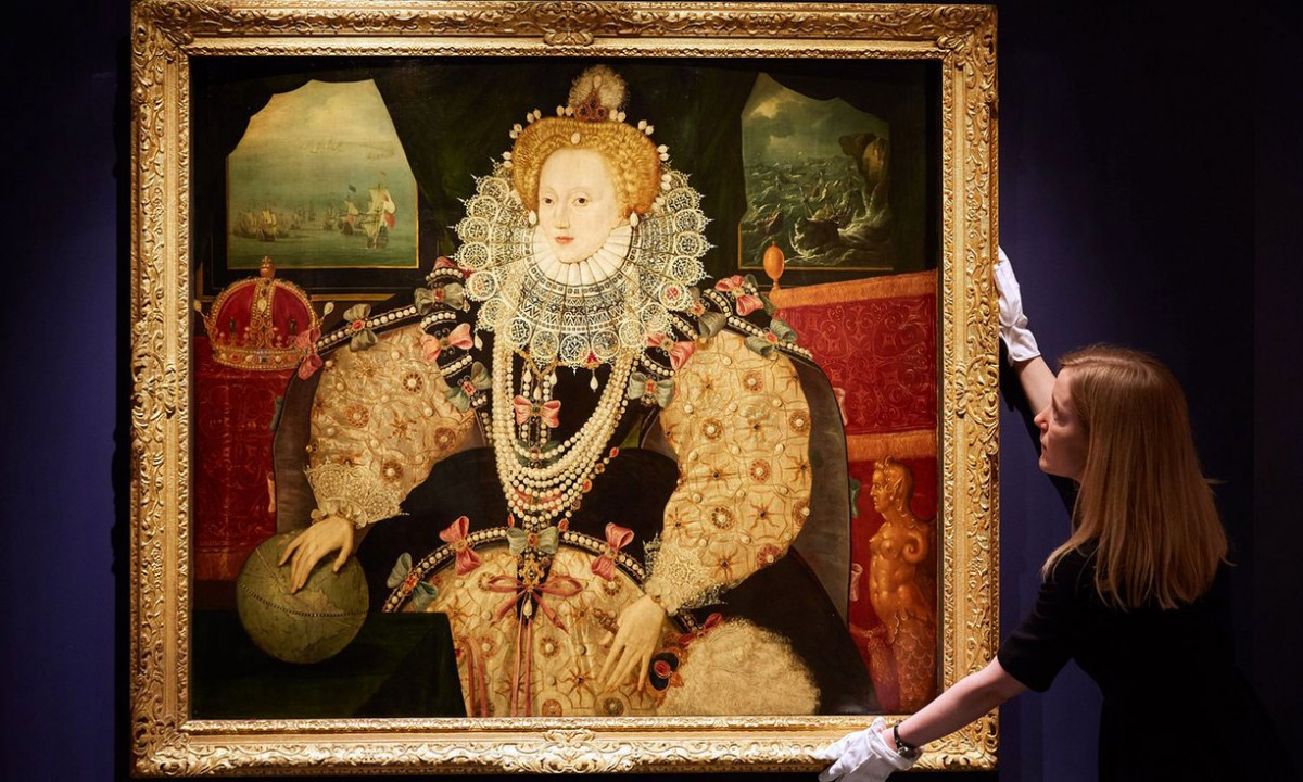 The portrait was originally owned and possibly commissioned by Sir Francis Drake. Photo Credit: Art Fund/BBC.
