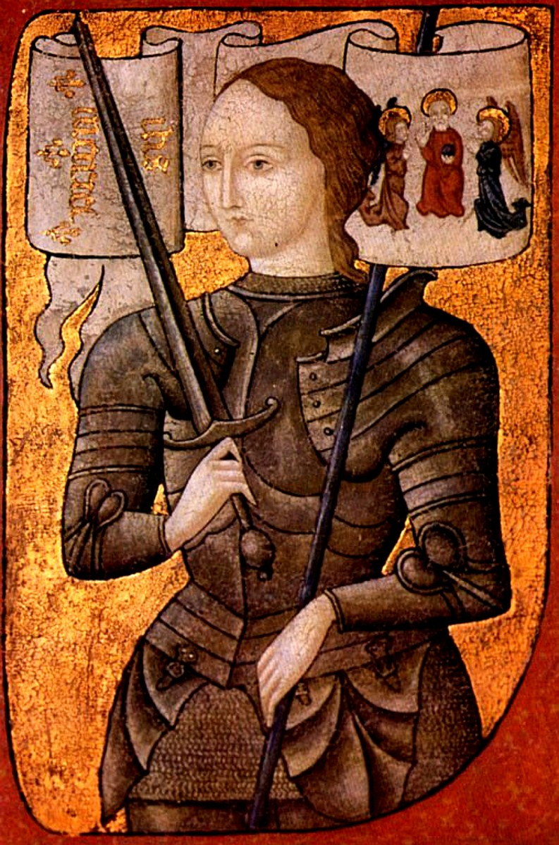 Joan of Arc, painting, c. 1485. An artist's interpretation, since the only known direct portrait has not survived. (Centre Historique des Archives Nationales, Paris, AE II 2490)