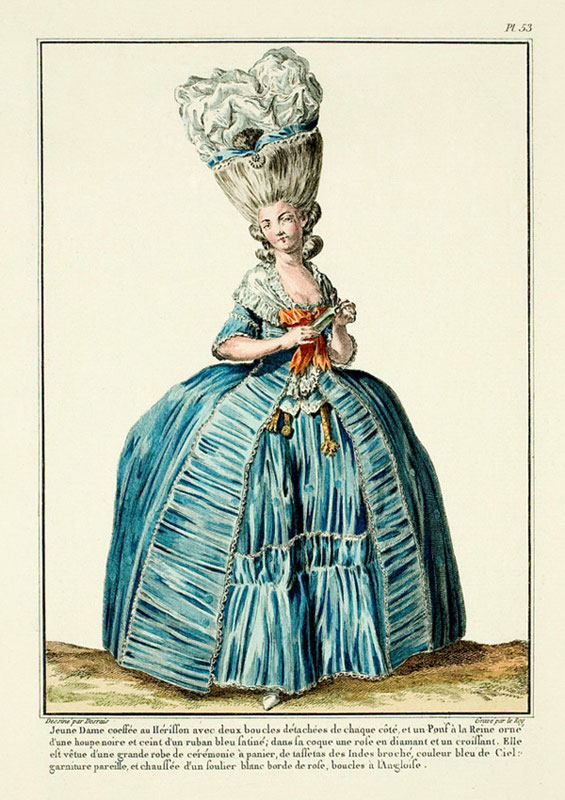 French fashion plate, 18th c.
