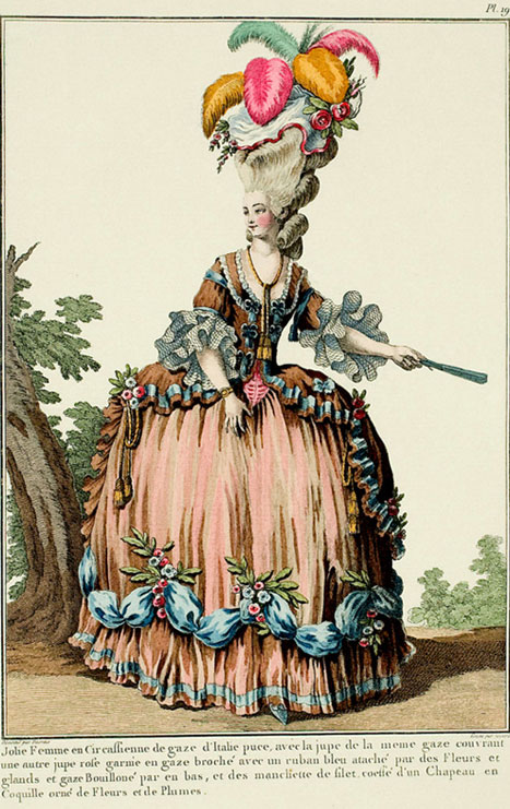 French fashion plate, 1776.