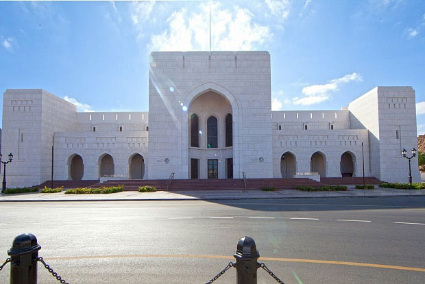 The building is about 14,000 square metres with a white facade. Photo Credit: National Museum Oman/The Art Newspaper.