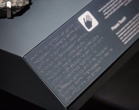 The museum is also focussed on accessibility for disabled visitors with display captions in Arabic Braille. Photo Credit: National Museum Oman/The Art Newspaper.