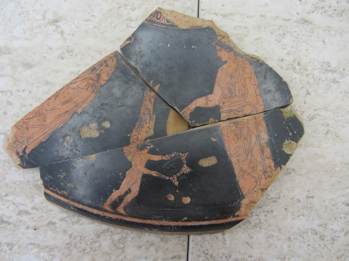 Decorated pottery sherd from Phanagoria.