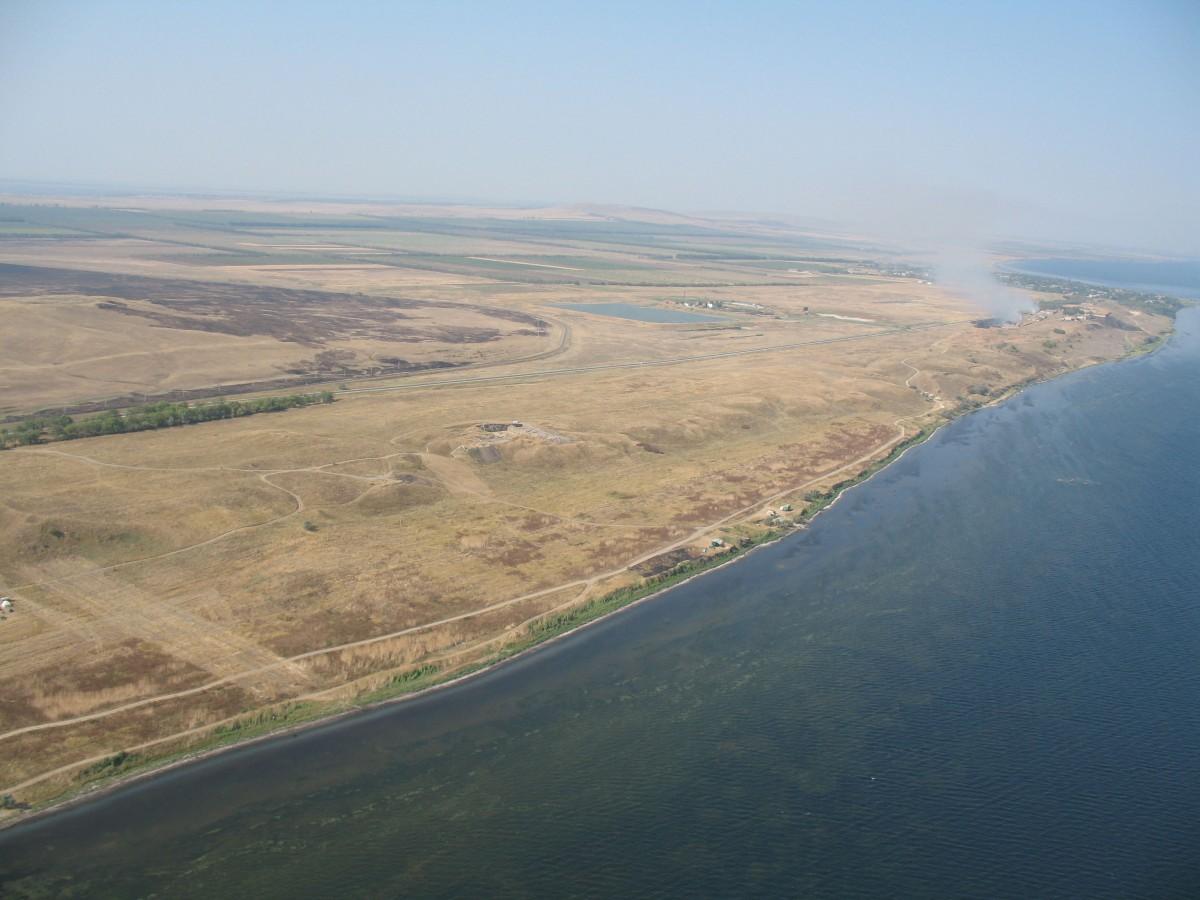 Phanagoria: panoramic view of the site.