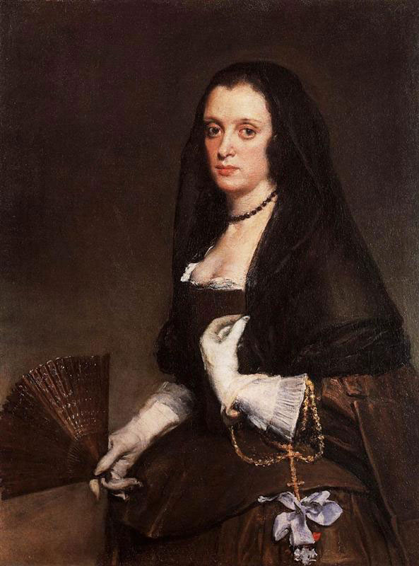 "Diego Velasquez,""Woman with a fan"", 1638-1639. Wallace Collection, London."