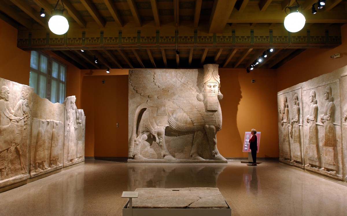 View of the Oriental Institute exhibition.