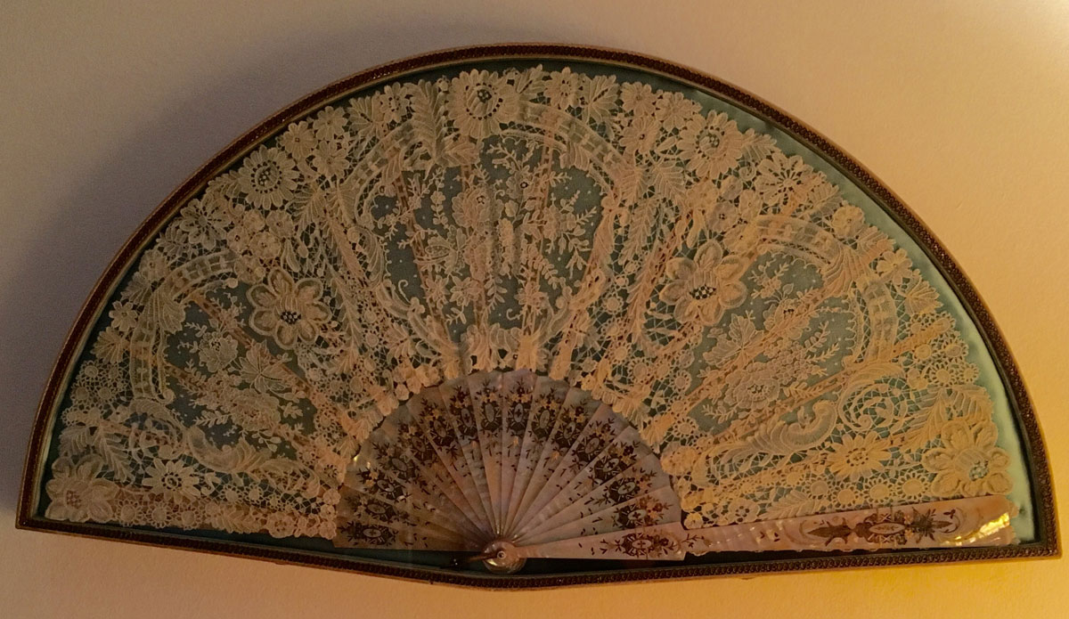 19th century lace fan.