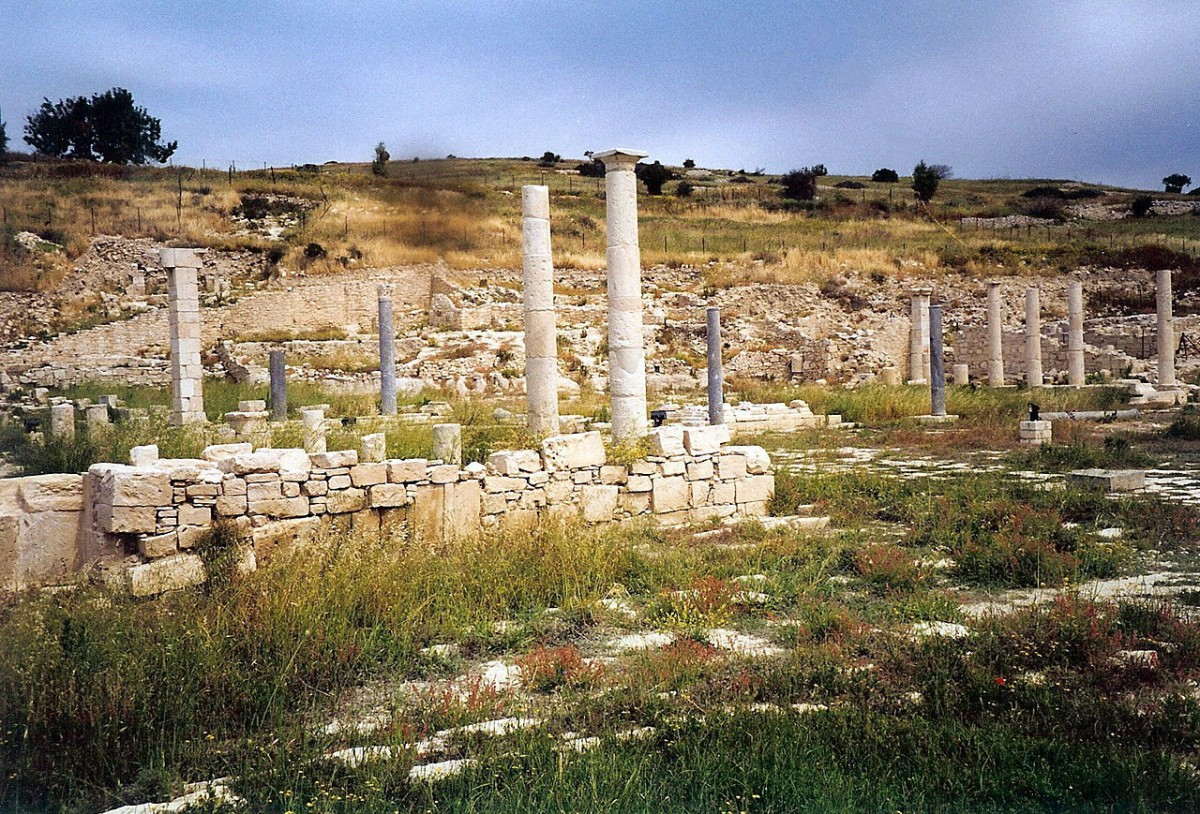 Ruins of the ancient city of Amathus (Cyprus).