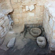 A Byzantine livestock stable was exposed in the Avdat National Park
