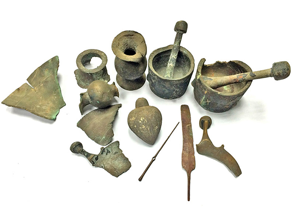 The ancient finds that were retrieved from the sea and turned over to the Israel Antiquities Authority Copyright: Diego Barkan, Israel Antiquities Authority
