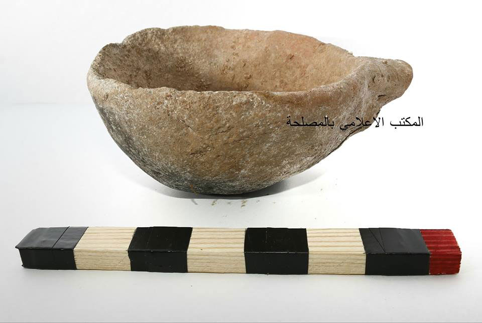 Potteries, garnets and other funerary itmes were also found in the graves. Photo Credit: Libya Department of Antiquities/The Libya Observer