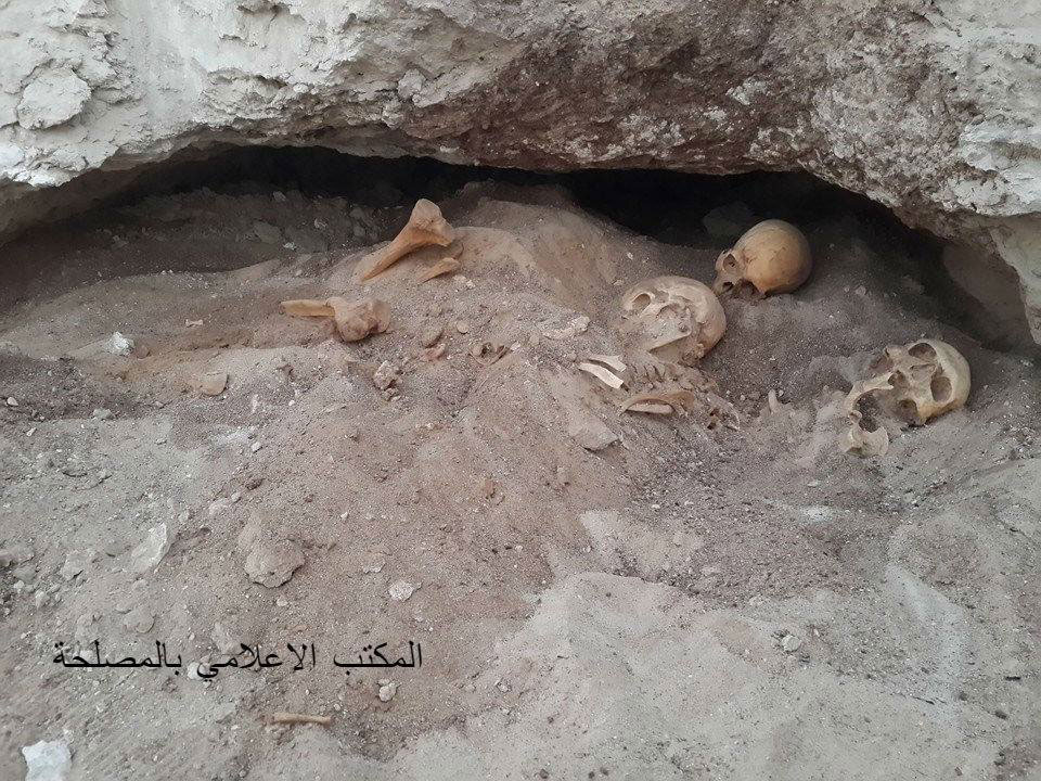 The graves included skeletons dating to the 4th century BC. Photo Credit: Libya Department of Antiquities/The Libya Observer