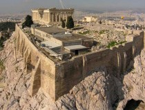 Athens Acropolis recessed northern wall to be restored