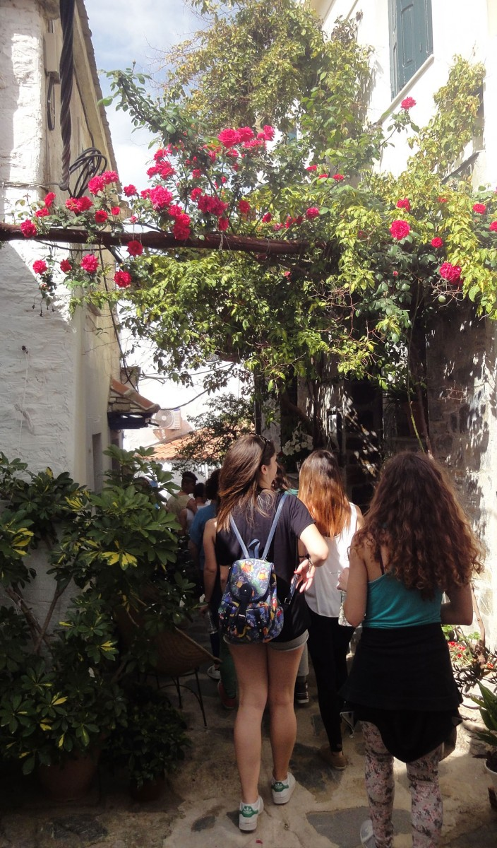 Fig. 7. Walking in the streets of Skopelos.