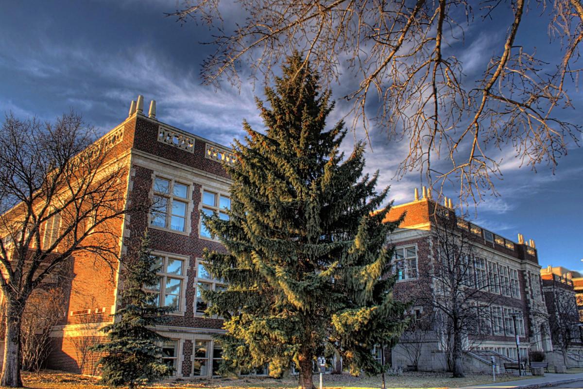 Corbett Hall, University of Alberta campus.
