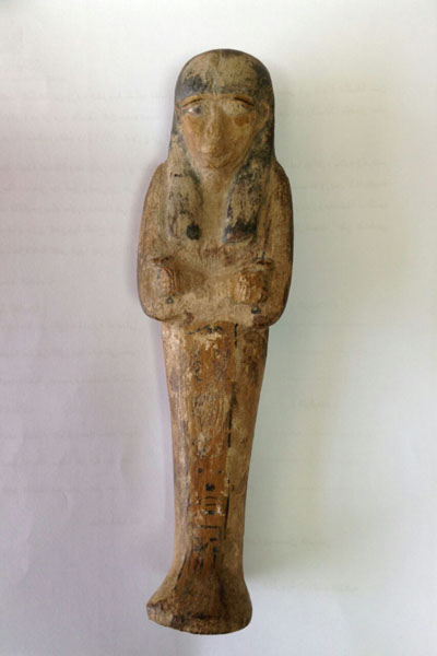 The Ushabti figurine was found in Mexico and handed over to the Egyptian embassy.