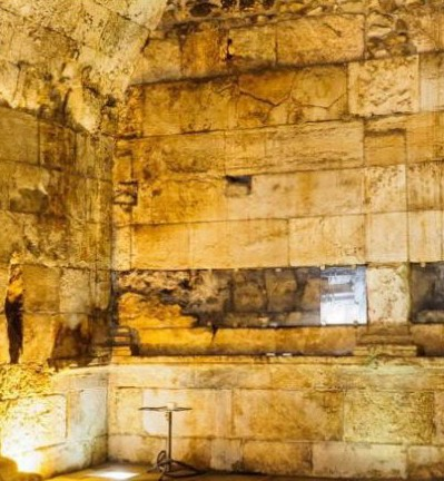 The two rooms, initially believed to have served as a public fountain, are now thought to have been a dining hall. Photo Credit: Assaf Peretz, Israel Antiquities Authority/Archaeology.