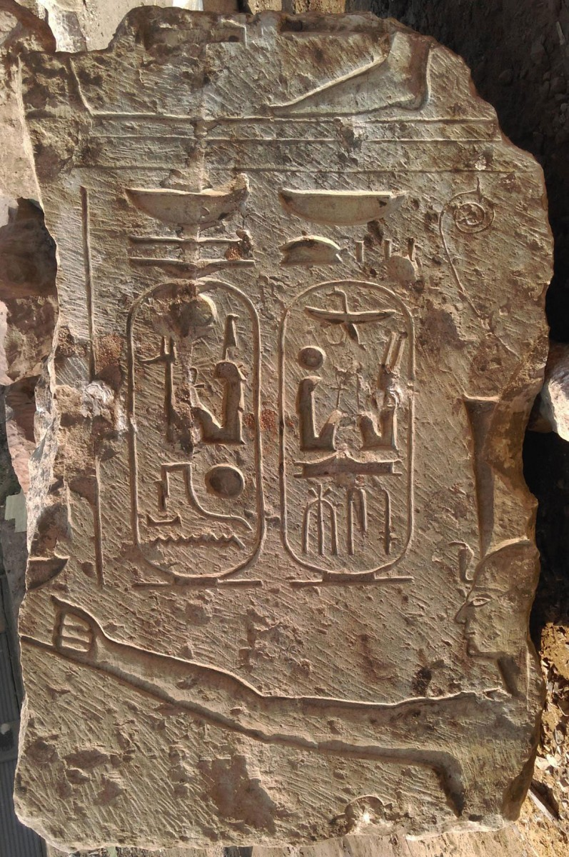 The cartouche of Ramesses II as seen in the latest finds from Mataritya.