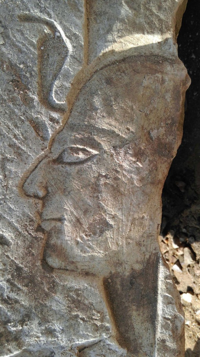 Detail of relief from Matariya.